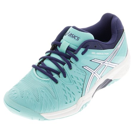 0a6e4e69b64c ASICS - Juniors` Gel-Resolution 6 Tennis Shoes Pool Blue and White -  Walmart.com