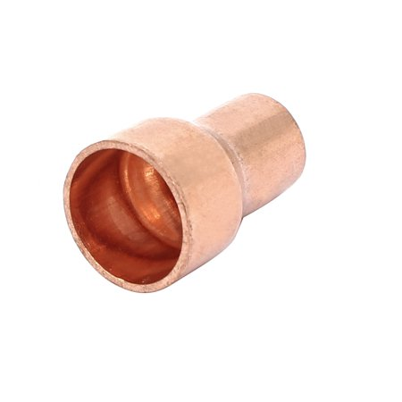 12.7mmx8mm Tube Air Conditioner Copper Reducer Straight Fitting - image 3 de 3