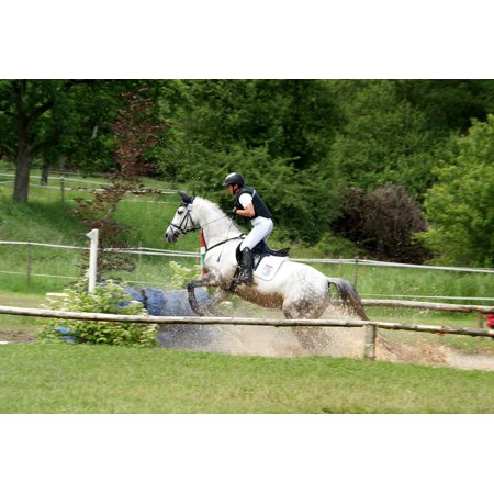 Canvas Print Reiter Competition Equestrian Ride Horse Stretched Canvas 10 x 14