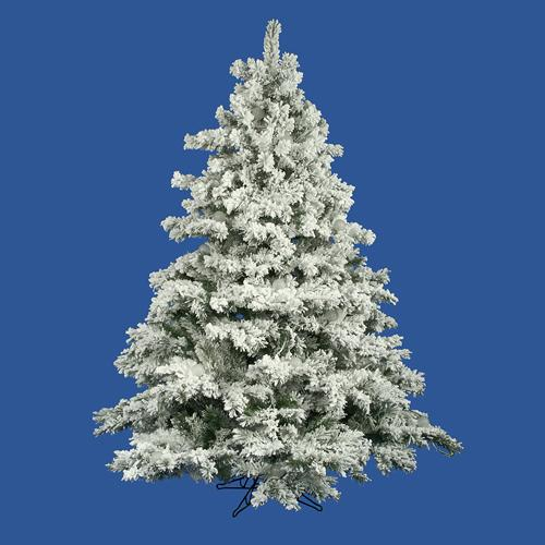 7.5' Flocked Alaskan Artificial Christmas Tree - Unlit