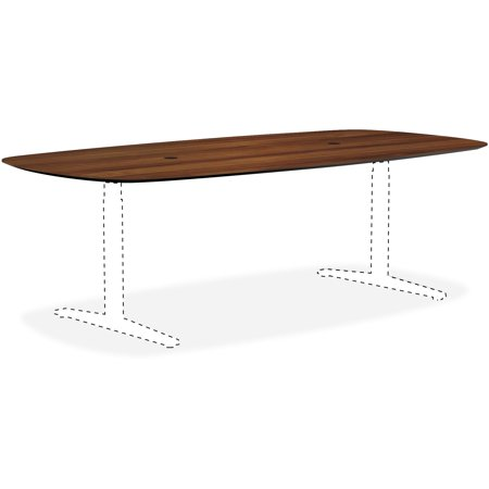 Lorell, LLR59587, Knife Edge Walnut Rectangular Conference Tabletop, 1 Each (Conference Tabletop Boat)