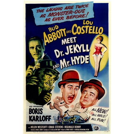 Abbott & Costello Meet Dr Jekyll & Mr Hyde (1953) 11x17 Movie Poster (Jekyll And Hyde Halloween Costumes)