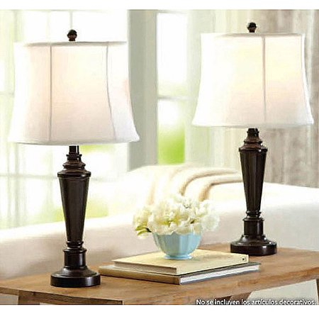 Better Homes and Gardens Transitional Lamp, Dark Bronze Finish, (Transitional Wallchiere)