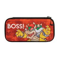 PDP Nintendo Switch Camo Slim Travel Case Super Mario Bros Bowser Edition, 500-088