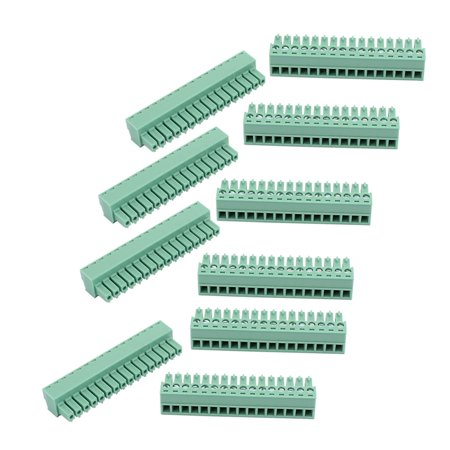 10Pcs 300V 2EDGK 3 81mm Pitch 16-Pin PCB Screw Terminal Block Connector