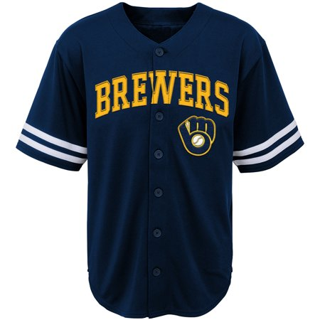 Youth Navy Milwaukee Brewers Team Jersey (14 Milwaukee Brewers Jersey)