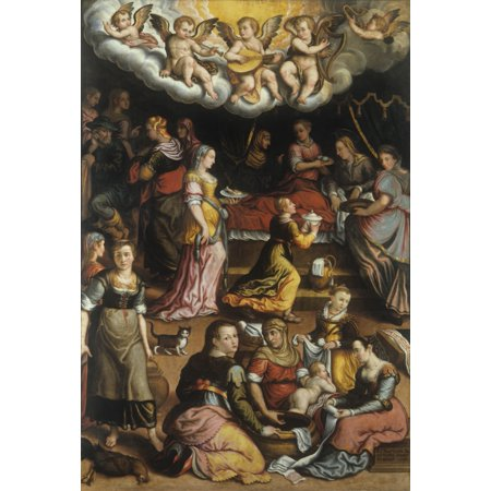 Nativity Of Virgin Mary Stretched Canvas -  (24 x 36)