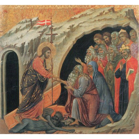 Framed Art for Your Wall Duccio di Buoninsegna - Christ in Limbo 10 x 13 Frame](Limbo Theme)