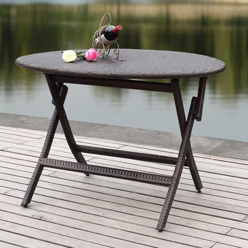 Safavieh Ellis Round Outdoor Folding Table, Multiple Colors