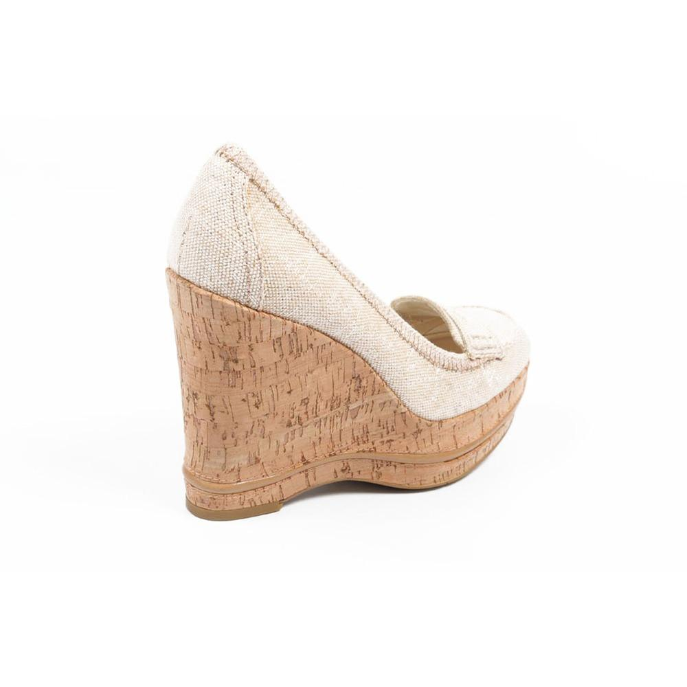 Beige 9.5 US - 41 EUR Nine West Womens Wedge Pump  NWTHEO...