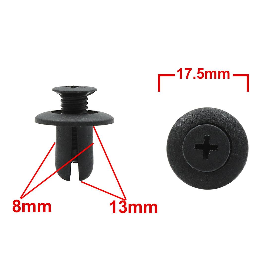 20pcs 8mm Hole Plastic Rivets Door Trim Bumper Clips Fastener for Automotive - image 1 de 2