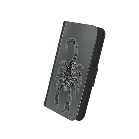 KuzmarK Samsung Galaxy S5 Wallet Case - Scorpion Weapon Guns ()