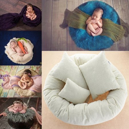4PCS/Set Newborn Photography Basket Filler Wheat Donut Posing Props Baby Pillows