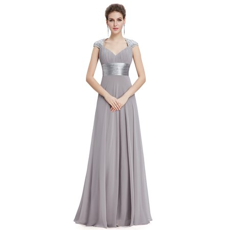7ef828d8b45 Ever Pretty Chiffon Sexy V-neck Ruched Empire Line Evening Dress 09672