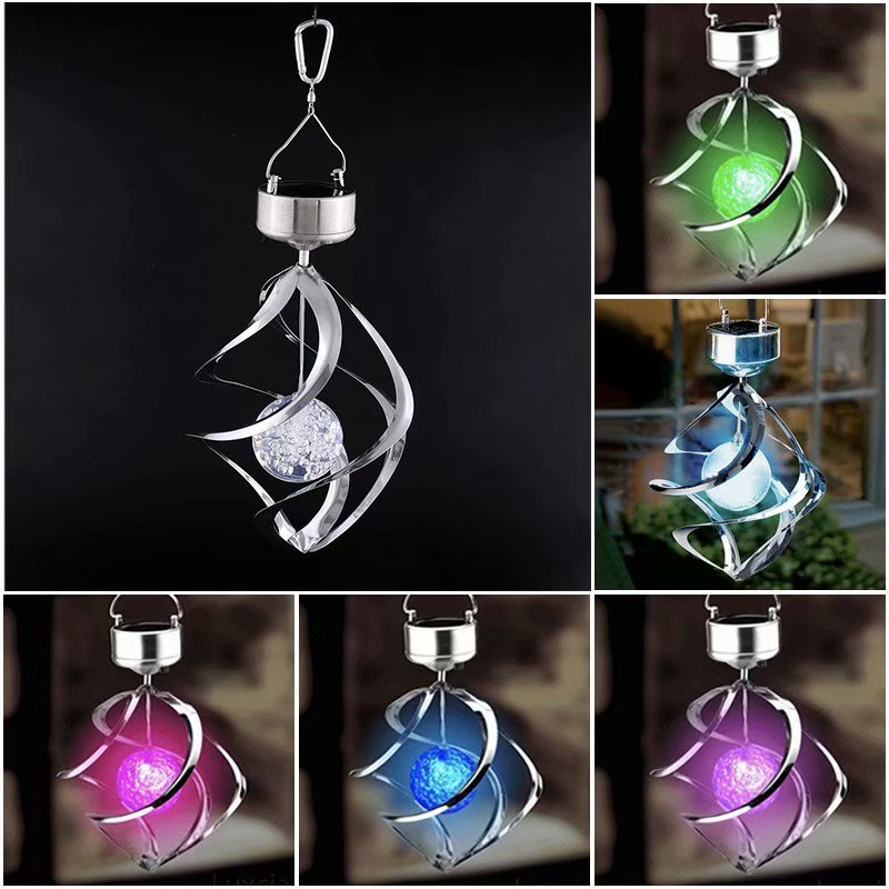 Solar LED Light Wind Chime Courtyard Outdoor Wind Light Hanging Wind Spinners