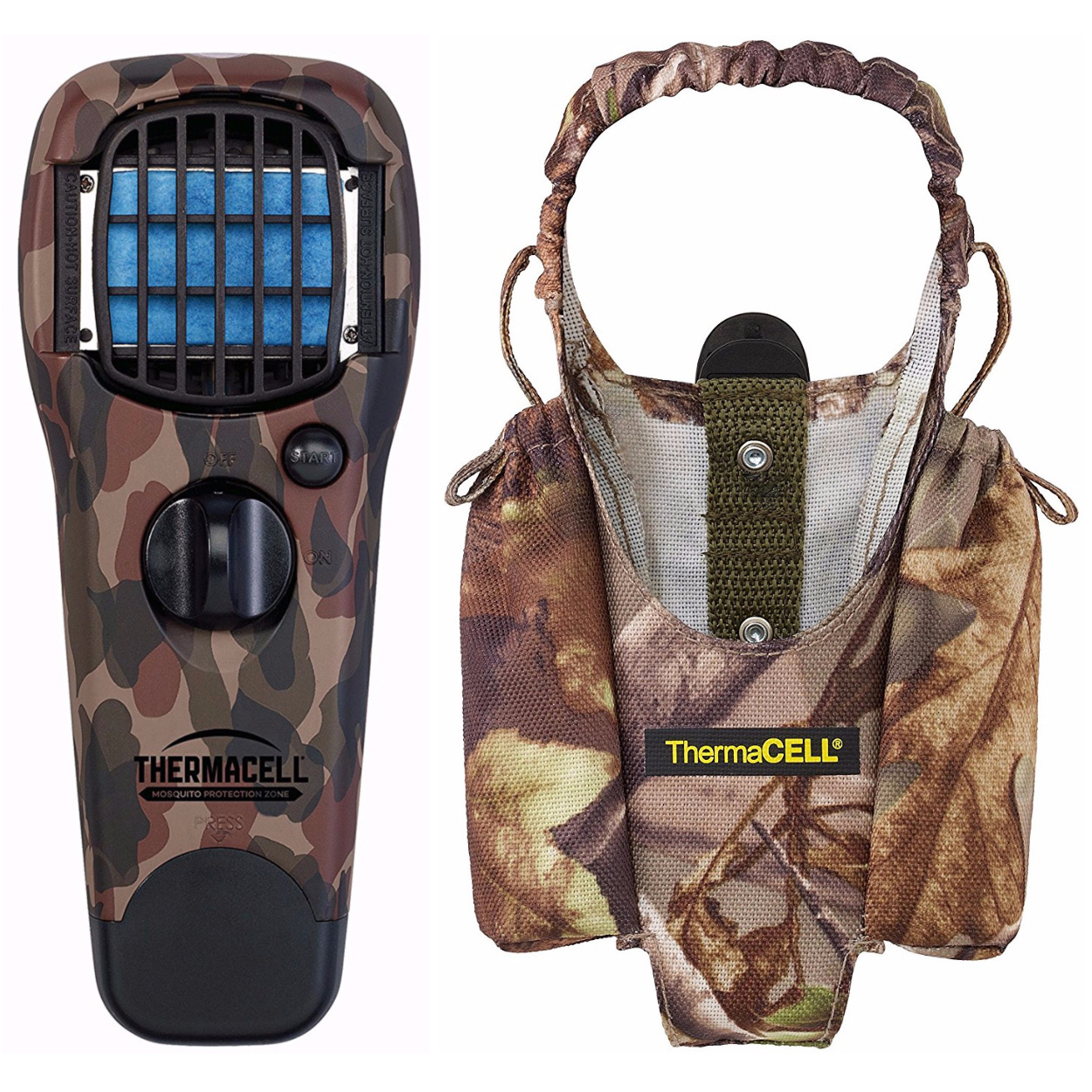 Click here to buy Thermacell Hunting Fishing Woodlands Mosquito Repeller & Camo Appliance Hoster by Thermacell.