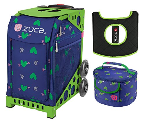 Zuca Cupid Sport Insert Bag and Green Frame, Gift Lunchbox, Seat Cushion