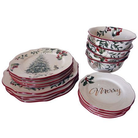 Better homes and gardens 16 piece heritage dinnerware set - Better homes and gardens dish sets ...