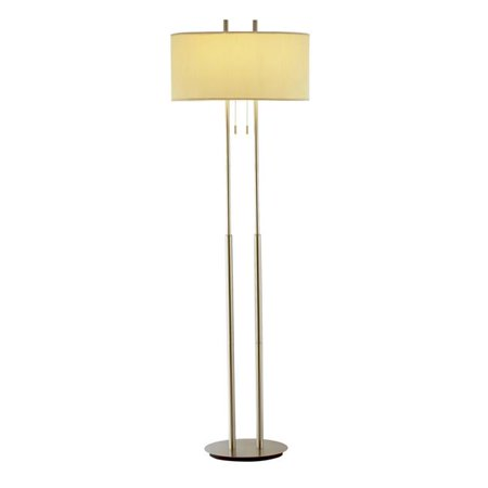Duet Floor Lamp Satin Steel 22 Walmart Com