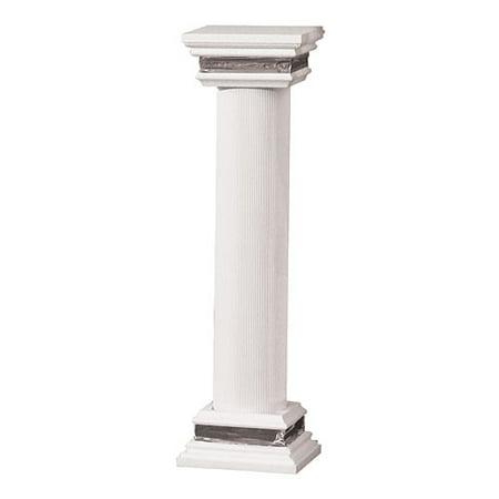 4 ft. White  Premier Column (Poplar 4 Column)