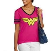 License Wonder Woman Juniors Graphic V-neck Shir