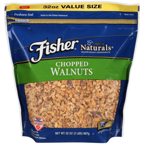 Fisher Chef's Naturals Chopped Walnuts, 32 oz