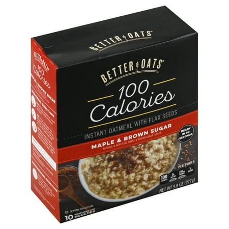 Post Foods Better Oats 100 Calories Oatmeal, 10