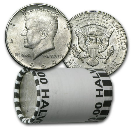 90% Silver Kennedy Half Dollar 20-Coin Roll Avg Circ (P & D) Sacagawea Golden Dollar 2 Coin