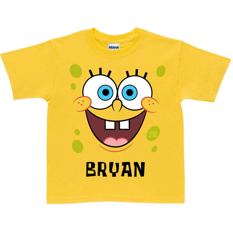 Personalized SpongeBob SquarePants Face Toddler Yellow T-Shirt