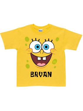 Personalized SpongeBob SquarePants Face Toddler Yellow T-Shirt