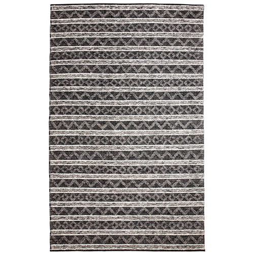 Crescent Drive Rug Company Heirloom Hand-Woven Charcoal/Silver Area Rug