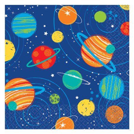 Blast Off Boys Outer Space Birthday Decorations & Supplies - Boys Birthday Supplies