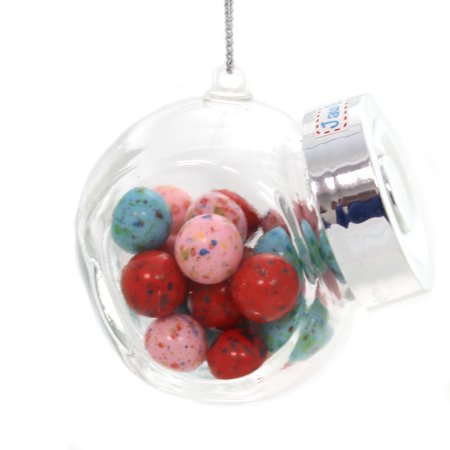 Holiday Ornaments OLD FASHION CANDY JAR Glass Christmas A1722 Jaw Busters ()