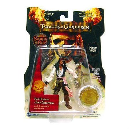 Pirates of the Caribbean Series 3 Jack Sparrow Action Figure [Half Skeleton] Pirates Caribbean Skeleton