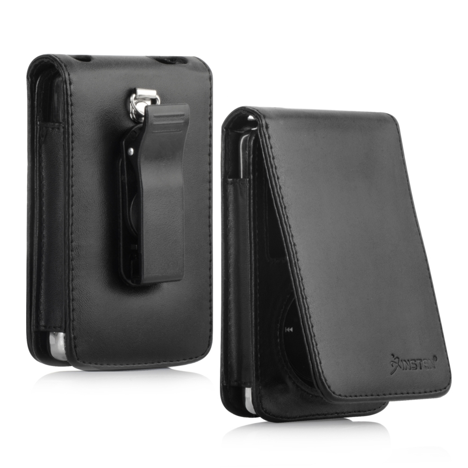 Insten Leather Case w/ Strap For Apple iPod classic 120GB / 80GB, Black