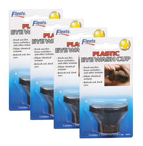 Flents Plastic Eye Wash Cup pack of 4
