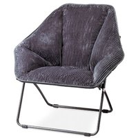 Zenithen Limited IC576S-TV06 Hexagon Dish Chair, Gray Fabric