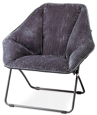 Zenithen Limited IC576S TV06 Hexagon Dish Chair, Gray Fabric