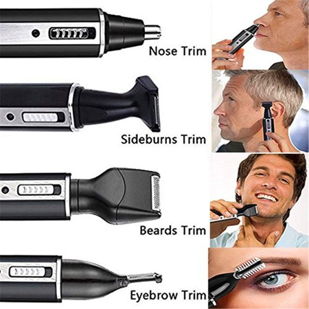 4 In 1 Rechargeable Hair Beard Eyebrow Ear Nose Shaver Trimmer Electric Kits - image 7 de 9
