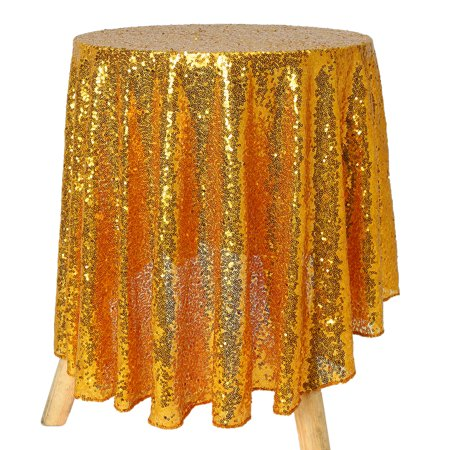 On Clearance Round 47'' Sparkle Sequin Tablecloth Cover Wedding Party Banquet Table Decor