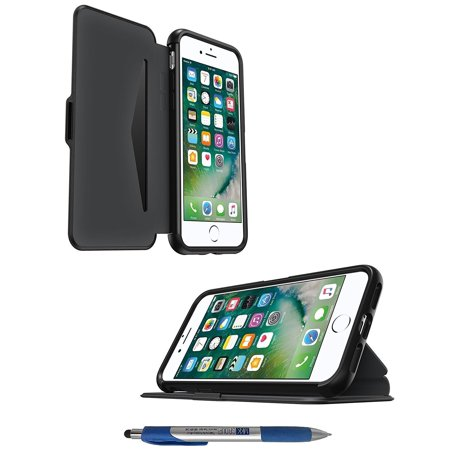 quality design cbd14 081a2 OtterBox Symmetry Folio Etui SERIES Case - Black - W/Card Slot-iD &  Universal Stylus Pen - for iPhone 8 & iPhone 7 (4.7inch) Not for + Plus  (Retail ...
