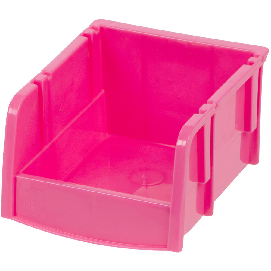 IRIS Extra Small Storage Bin, Pink, 24-Pack