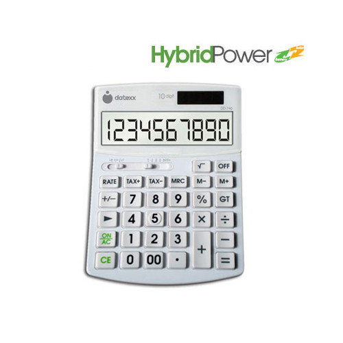 Teledex Inc DD-740 Hybrid Power 10 Digit Desktop Calculator