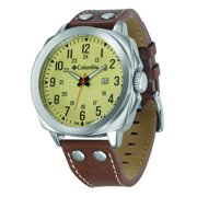 Columbia Cornerstone Brown Leather Strap Watch