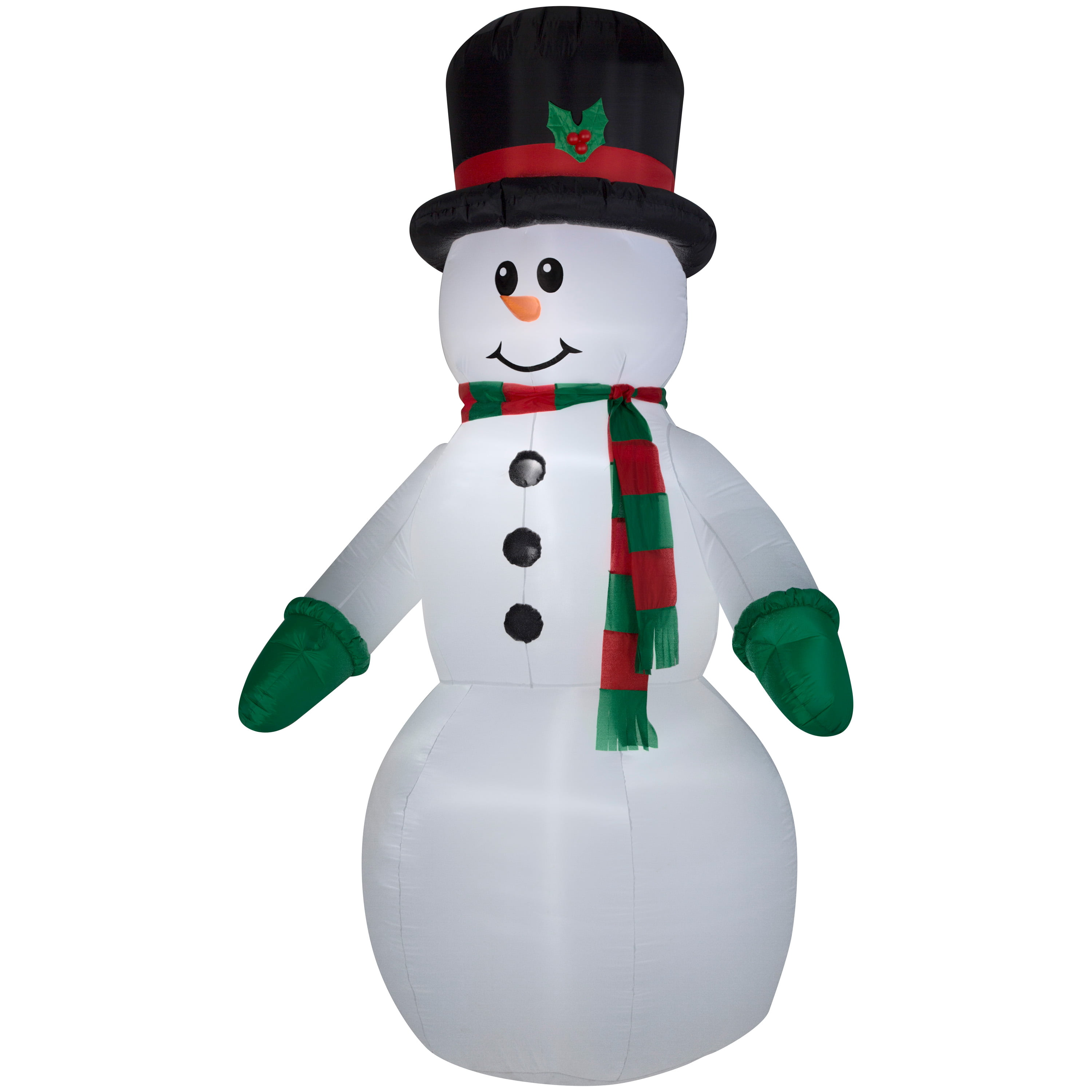 Huge lighted santa snowman inflatable airblown giant for Inflatable christmas decorations