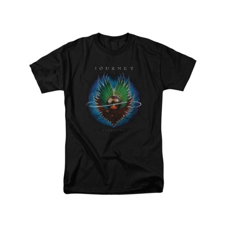 Mens 80's Clothing (Journey 80's Rock Band Evolution Cover Adult T-Shirt)