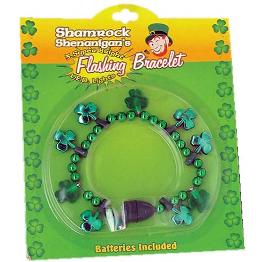 Shamrock Flashing Bracelet
