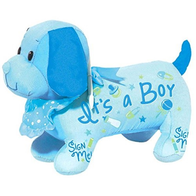 "Delightful It's A Boy! Autograph Hound Baby Shower Party Novelty Favours, 9"" x 16""."