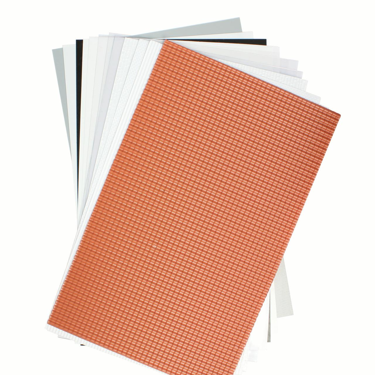 Wee Scapes Plastic Sheets, 7.5in x 12in, 2/Pkg., Scalloped Edge Tile