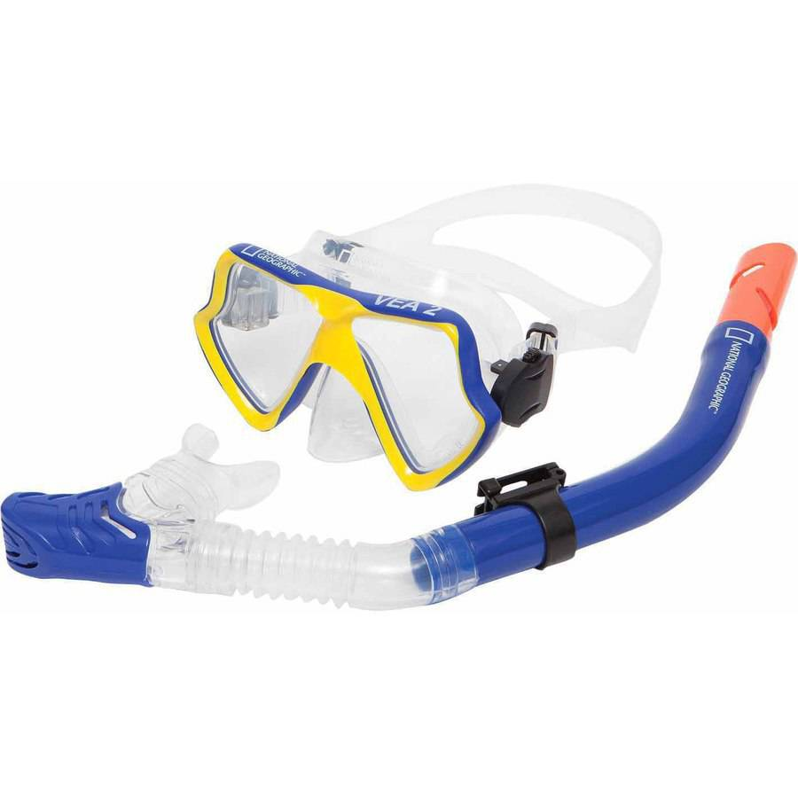 National Geographic VEA2 Combo Mask and VIVA 2 Snorkel by National Geographic Snorkeler